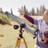 Adjusting the telescope